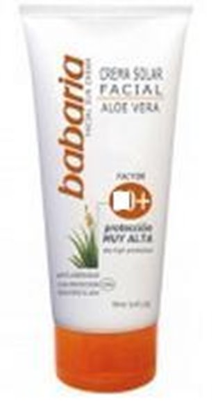 Picture of Babaria Creme Facial Solar FP50+ Aloe Vera Anti Rugas 75ml