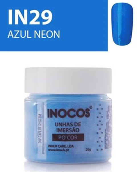 Picture of INOCOS PÓ UNHAS DE IMERSÃO DIPPING SYSTEM  IN29  AZUL NEON  26gr