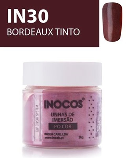Picture of INOCOS PÓ UNHAS DE IMERSÃO DIPPING SYSTEM  IN30  BORDEAUX TINTO  26gr