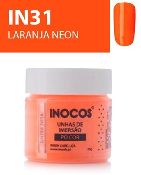 Picture of INOCOS PÓ UNHAS DE IMERSÃO DIPPING SYSTEM  IN31  LARANJA NEON  26gr