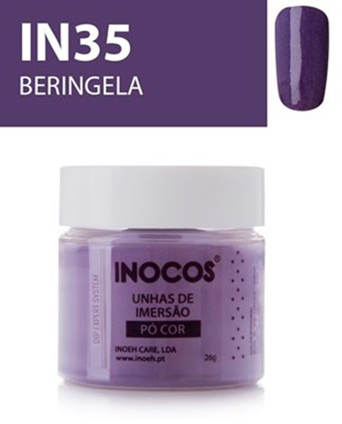 Picture of INOCOS PÓ UNHAS DE IMERSÃO DIPPING SYSTEM  IN35 BERINGELA  26gr