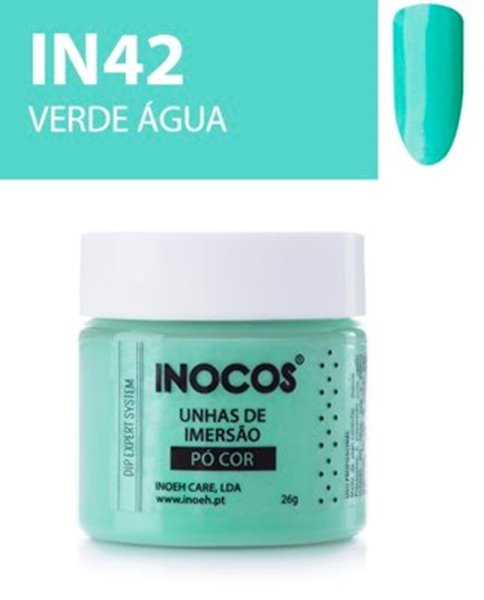 Picture of INOCOS PÓ UNHAS DE IMERSÃO DIPPING SYSTEM  IN42  VERDE ÁGUA  26gr