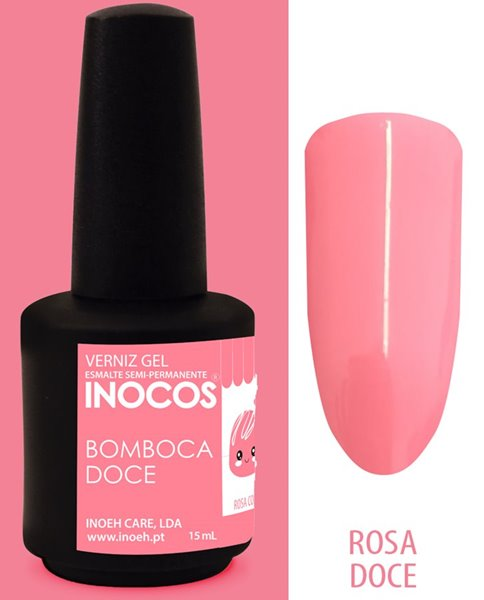 Picture of INOCOS Verniz Gel Bomboca Doce Rosa Coral 15ml