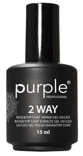 Picture of Purple Base Top Coat 2 Way 15ml