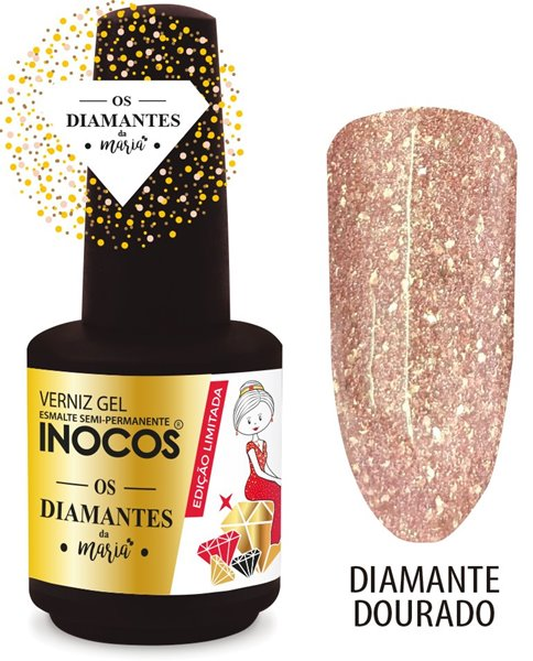 Picture of Inocos Verniz Gel Diamante Dourado 15ml