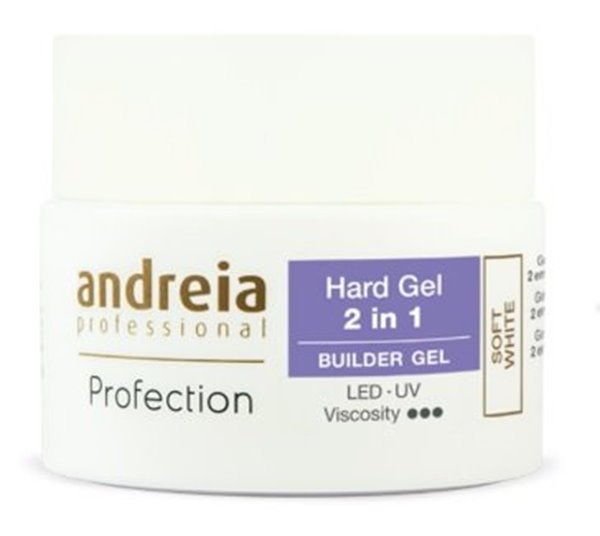 Picture of Andreia Profection Hard Gel 2 em 1 White 22grs