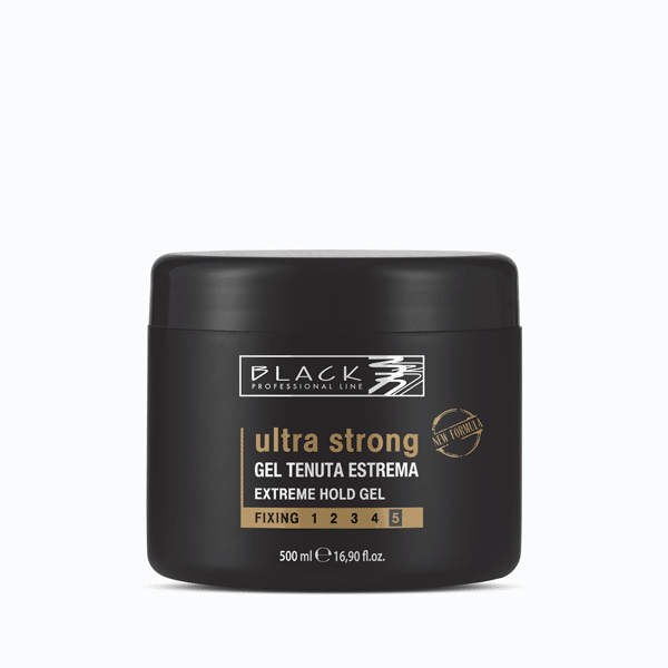 Picture of Black Gel Cabelo Ultra Strong Força 5 500ML