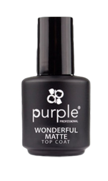 Picture of Purple Top Coat Wonderful Matte 15ml