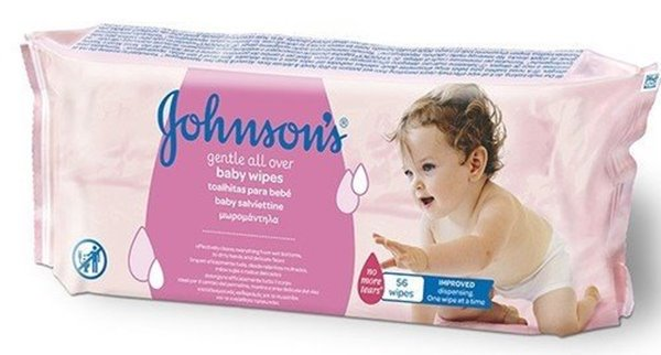 Picture of Johnsons Toalhitas para bebé 56 unidades