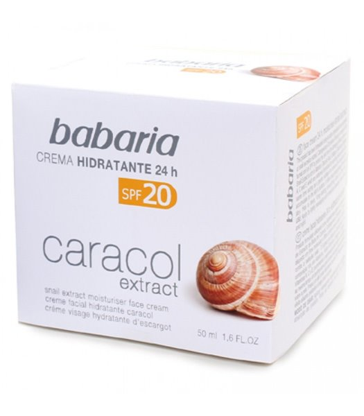 Picture of Creme Facial Hidratante 24h Extrato Caracol 50ml Babaria