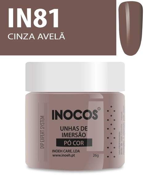 Picture of INOCOS PÓ UNHAS DE IMERSÃO DIPPING SYSTEM IN81 CINZA AVELÃ 26gr
