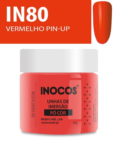 Picture of INOCOS PÓ UNHAS DE IMERSÃO DIPPING SYSTEM IN80 VERMELHO PIN-UP 26gr