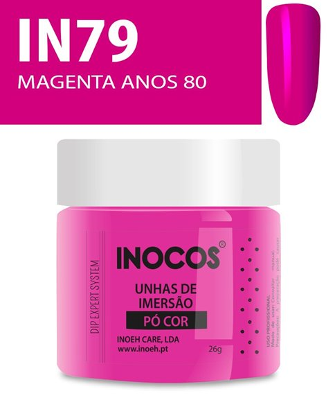 Picture of INOCOS PÓ UNHAS DE IMERSÃO DIPPING SYSTEM IN79 MAGENTA ANOS 80 26gr