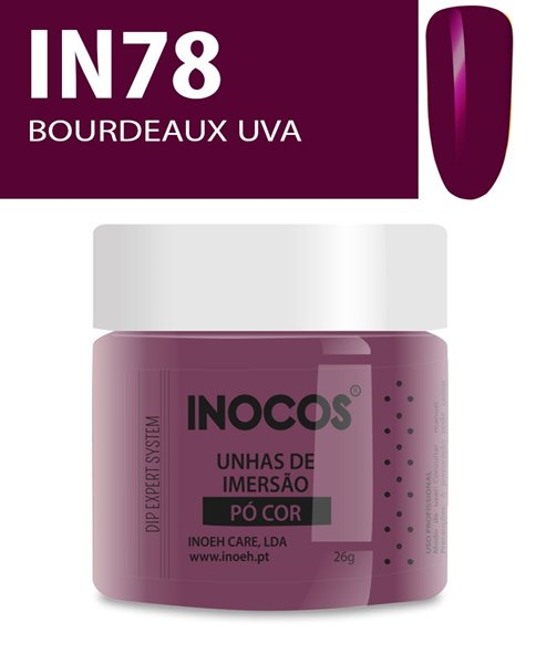 Picture of INOCOS PÓ UNHAS DE IMERSÃO DIPPING SYSTEM IN78 BORDEAUX UVA 26gr