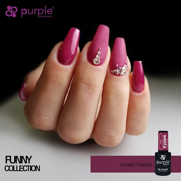 Picture of Purple Verniz Gel Funny Things  10 ml Ref. P2006