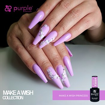 Imagens de Purple Verniz Gel Make a Wish Princess 10 ml Ref. P2034