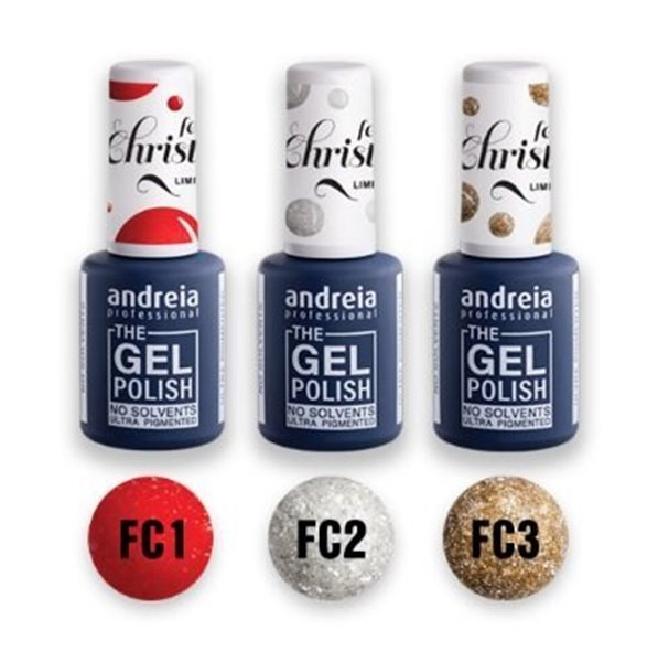 Picture of Andreia The Gel Polish Feels Like Christmas Collection Pack de 3 Cores