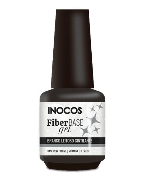 Picture of INOOCOS Fiber Gel Branco Leitoso Cintilante 15ml