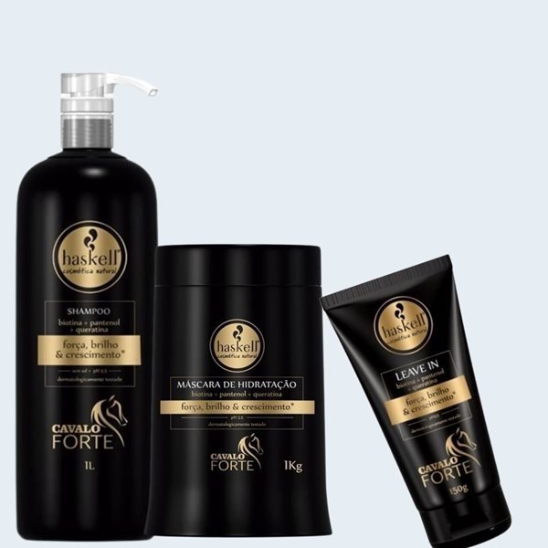 Picture of Haskell Cavalo Forte Pack Shampoo Litro + Máscara Kg com OFERTA de Leave In 150ml