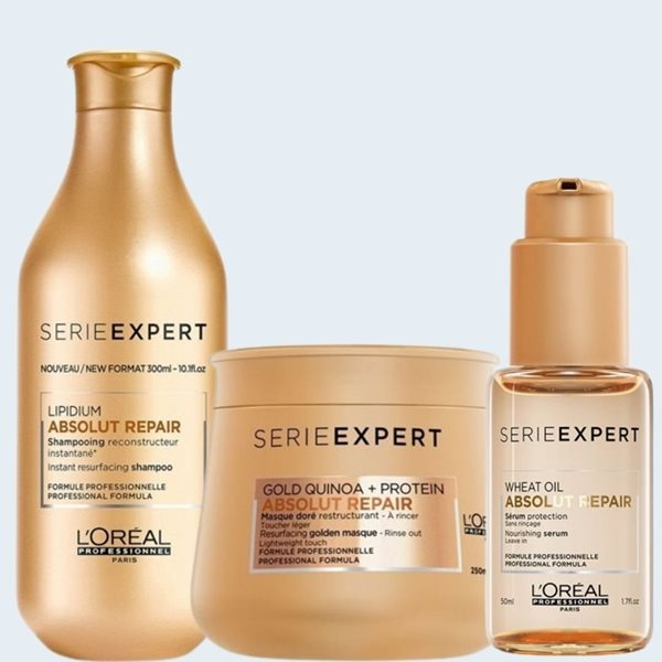 Picture of Loreal Pack Absolut Repair Gold (Shampoo + Sérum + Máscara)