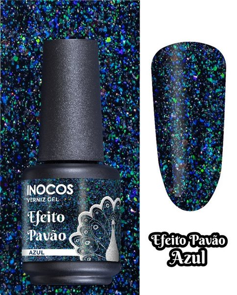 Picture of Inocos Verniz Gel Pavão Azul 15ml