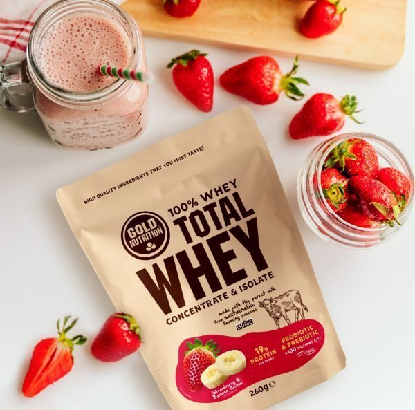 Picture of Gold Nutrition Total Whey 260g Chocolate Branco Avelã